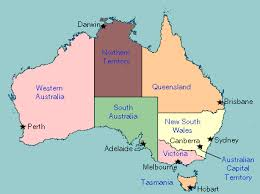 states australia map map of australia with states and capitals travel maps and major