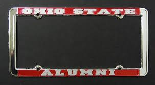 uc berkeley alumni license plate state alumni license plate frame with raised copy chrome strand