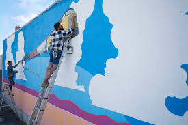 painting a wall painting a church mural