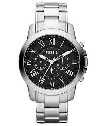 watches chronograph fossil s chronograph grant stainless steel bracelet 44mm