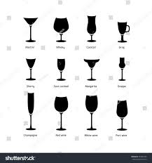 cocktail silhouette png black white vector silhouette glasses icon stock vector 553987492