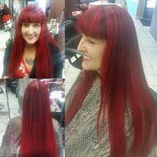 1 2 crown red highlights bayalage low lights of dark brown