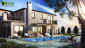 top modern beach 3d house exterior rendering design view yantram