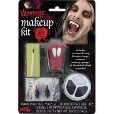 kids halloween vampire makeup vampire makeup kit including fangs amazon co uk toys u0026 games