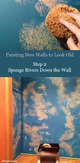 how to paint new walls to look old nomadic decorator