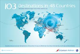 United Route Map Flight Route Map Flight Routes Srilankan Airlines