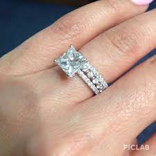 wedding ring with two bands princess cut engagement rings and wedding bands thin princess cut