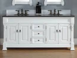 Cottage Bathroom Vanity by Cottage Style White Bathroom Vanity With Double Sinks And Mirror