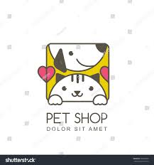 vector outline illustration cute muzzle cat stock vector 369595820
