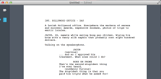 screenplay template word template idea