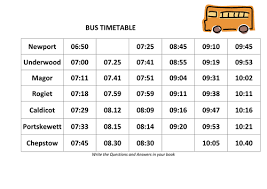 bus and train timetable time problems by danadockaglory