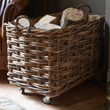 log and kindling baskets