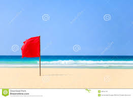 Beach Red Flag Red Flag On The Beach In Boavista Cape Verde Cabo Verde Stock