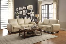 Benchcraft Furniture Furniture Cool Beige Leather Benchcraft Furniture Sofa Decor With