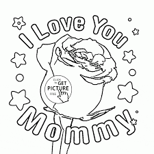 rose for mommy mother u0027s day coloring page for kids coloring