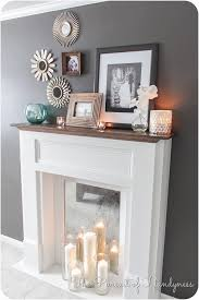Fireplace Mantel Shelf Plans by Diy Faux Fireplace Tutorial The Pursuit Of Handyness I Like