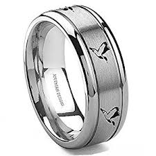 Mens Hunting Wedding Rings by Tungsten Duck Flying 8mm Ring 5 5 Amazon Com