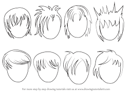 anime hairstyles tutorial drawing of anime boy hair clipartxtras