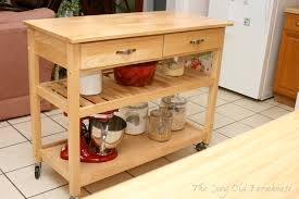furniture exquisite drawer storage red wood kitchen rolling cart