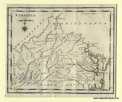 map of virginia antique maps and charts original vintage historical