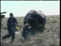 soyuz landing spotlighted with new view youtube