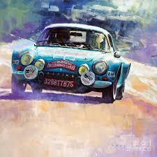 renault alpine a110 rally rally monte carlo 1972 alpine renault a110 1600 painting by yuriy