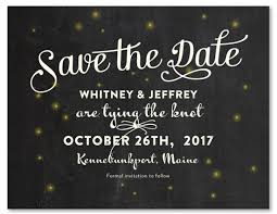 free save the date cards chalk board save the date cards on recycled paper summer fireflies