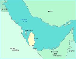 doha qatar map map of qatar
