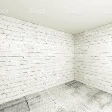 3d Room Empty 3d Room Interior Background Corner With White Brick Walls