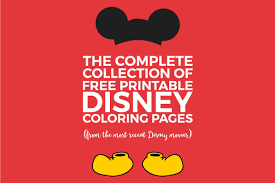 the complete collection of awesome u0026 free disney coloring pages