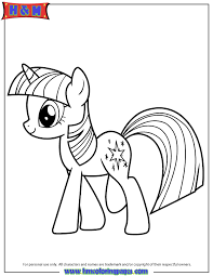 kid pony coloring pages twilight sparkle 39