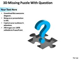 powerpoint designs chart missing puzzle piece question ppt