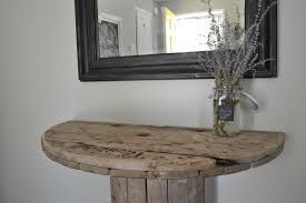 Wire Spool Table Diy Wooden Spool Console Table Crooked Housewife