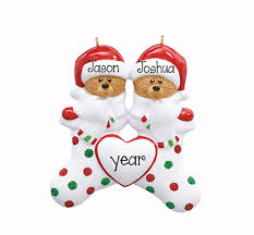 family of 2 my personalized ornaments