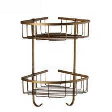double triangle metal wire bathroom corner shelves wall mounted