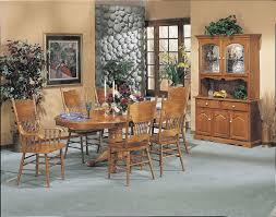 Oak Pedestal Table Acme Furniture Nostalgia Oak Pedestal Dining Table With Carved