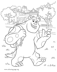 monsters university sulley monsters university coloring
