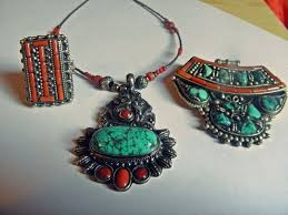 tibetan silver turquoise necklace images Tibetan silver turquoise necklace images jpg