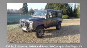 land rover one for sale restored 1989 land rover one ten county station wagon