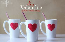 Homemade Valentine S Day Gifts For Her by Diy Valentine Glitter Heart Mug Pinkwhen