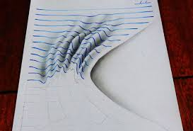 these awesome sketches were drawn on paper but they look like 3d