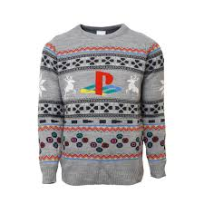 christmas jumper official playstation console christmas jumper sweater