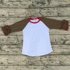 2017 breathable ruffle raglan plain icing raglan shirts baby girls