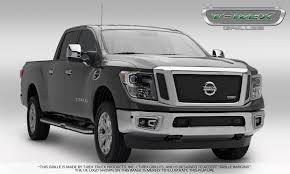 nissan trucks black t rex nissan titan upper class bumper grille overlay black