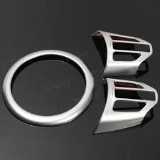 chrome steel ring wheel panel cover badge insert decoration for