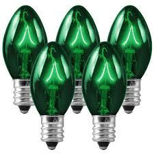 green c7 incandescent christmas light bulbs 1000bulbs com