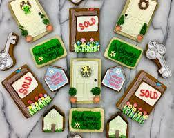 housewarming cookies realtor cookies etsy