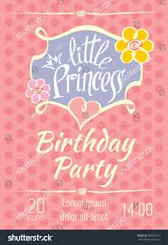 many stock birthday party invitation card vector creation princess birthday party poster invitation stock vector