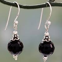black onyx earrings onyx earrings unique onyx earrings at novica
