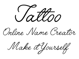 it yourself online tattoo name creator